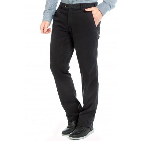 Зимние хлопковые брюки Meyer Bonn 6-468/09 на байковой подкладке черные.