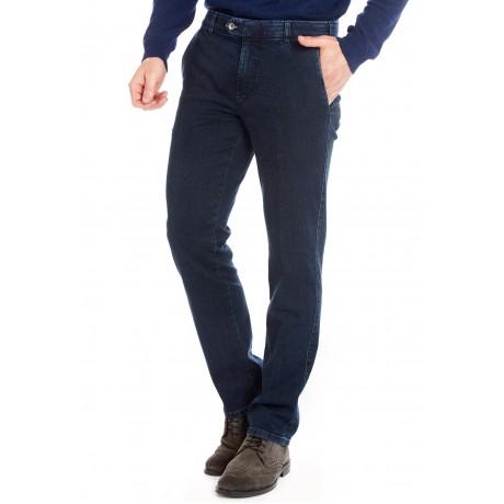 Хлопковые мужские брюки Meyer, модель Bonn 6-485/20 синие, джинсовые