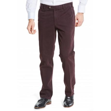 Хлопковые мужские брюки Meyer, модель Monza 6-455/48, цвет винный