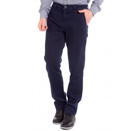 Мужские брюки-джинсы W.Wegener, модель Avanti 6-664/18 синего цвета из зимнего хлопка.