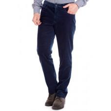 Брюки мужские W.Wegener Douglas 6-569/18 синие вельветовые, на термоподкладке с джинсовым карманом