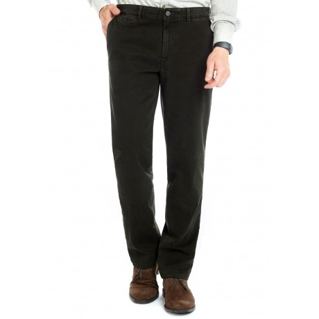 Мужские брюки W.Wegener, модель Rover 6-547/28 темно-зеленого цвета из зимнего хлопка.