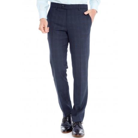 Классические мужские брюки Meyer (Мейер), модель Bonn 6-387/18 синие в клетку.