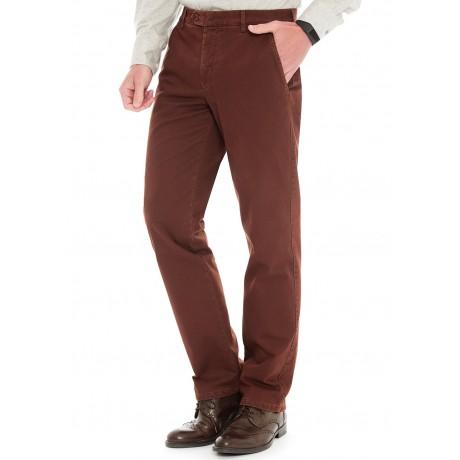 Хлопковые мужские брюки Meyer, модель Bonn 6-447/43 терракотовые