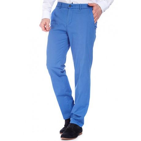 Брюки мужские W.Wegener Premium Conti 5-520/16 из итальянского эластичного хлопка голубого цвета