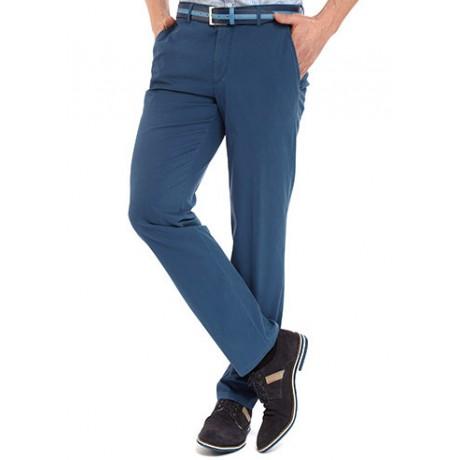 Брюки мужские W.Wegener Eton 5-548/18, насыщенного синего цвета, ткань в рубчик