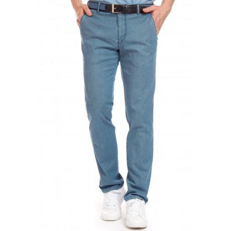 Брюки мужские Meyer Bonn 5-685/16 из легкой летней джинсовой ткани голубого цвета