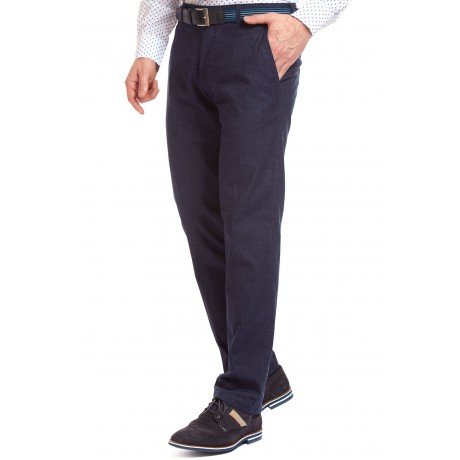 Брюки мужские W.Wegener Eton 5-687/18 синие из легкой летней джинсы