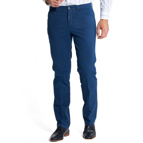 Брюки мужские Meyer Dublin 5-431/18, ярко-синие с джинсовым карманом