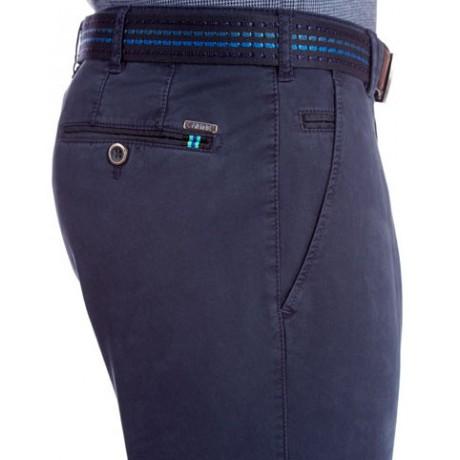 Брюки мужские Meyer, модель Bonn 6-412/19, синие хлопковые
