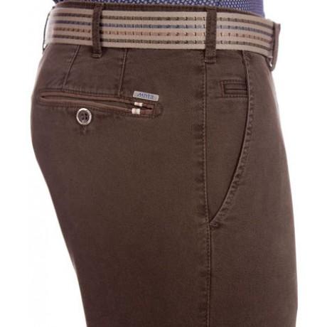 Хлопковые мужские брюки Meyer, модель Bonn 6-451/37 коричневые