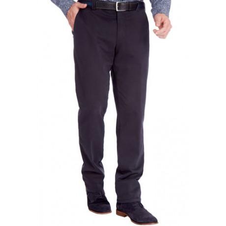 Зимние хлопковые брюки Meyer Bonn 6-468/19 на байковой подкладке синие.