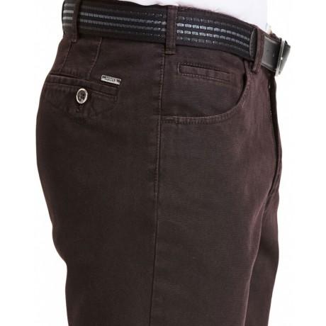 Брюки мужские Meyer Dublin 6-465/48,  бордового цвета, с джинсовыми карманами