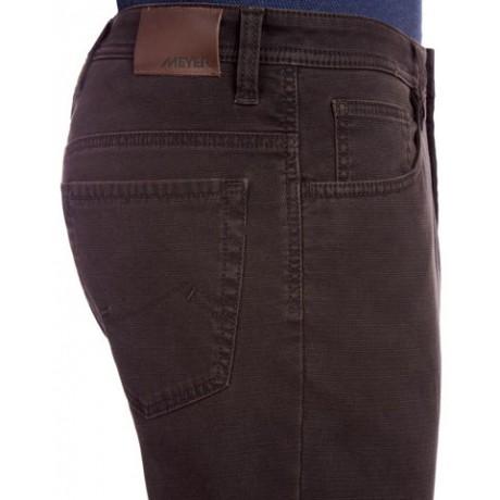 Джинсы мужские Meyer, модель Kansas 6-421/38 из хлопка, коричневые