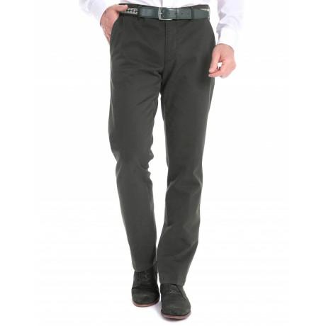 Хлопковые мужские брюки Meyer, модель Bonn 6-424/28 болотные
