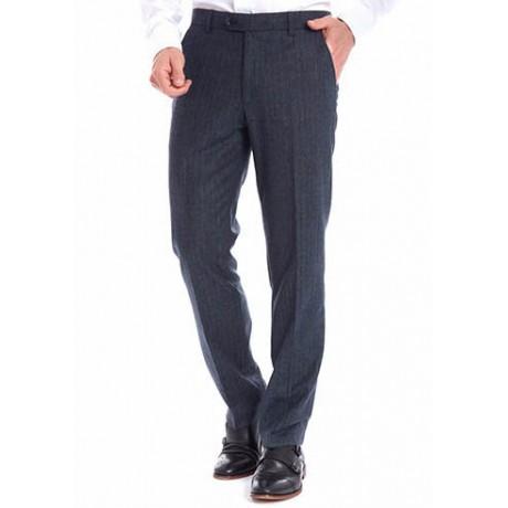 Классические мужские брюки Meyer (Мейер), модель Bonn 6-391/18 серо-синие в клетку.