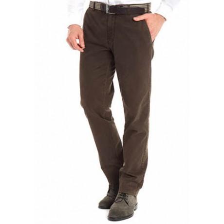 Хлопковые мужские брюки Meyer, модель Bonn 6-447/36 коричневые