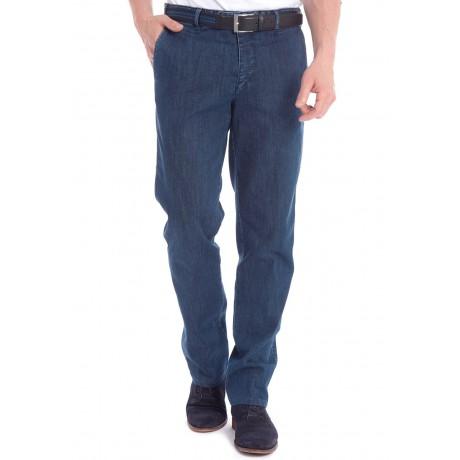 Хлопковые мужские брюки Meyer, модель Bonn 6-488/18 синие, джинсовые