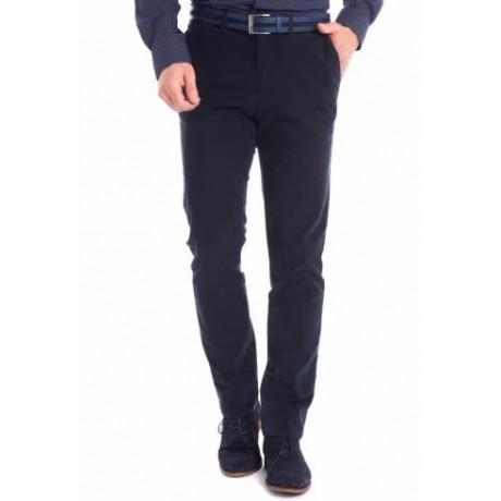 Мужские брюки W.Wegener, модель Rover 6-547/19 темно-синего цвета из зимнего хлопка.