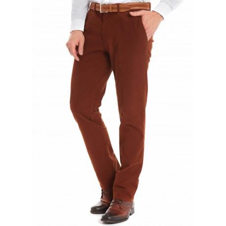Мужские брюки W.Wegener, модель Rover 6-518/44 рыжего цвета из зимнего хлопка.