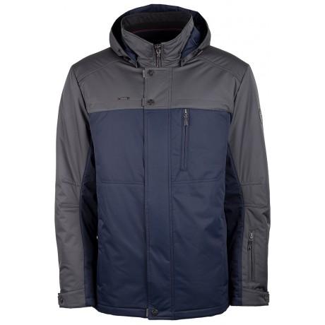 Куртка демисезонная мужская с климат-контролем AutoJack 0381 синяя