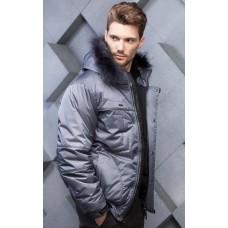 Куртка зимняя мужская с климат контролем AutoJack 0414 Серая
