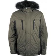Куртка зимняя мужская с климат-контролем AutoJack 0499 оливковый с черным
