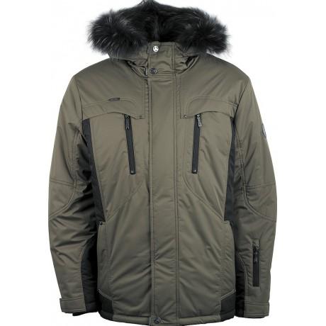 Куртка зимняя мужская с климат-контролем AutoJack 0499 оливковый