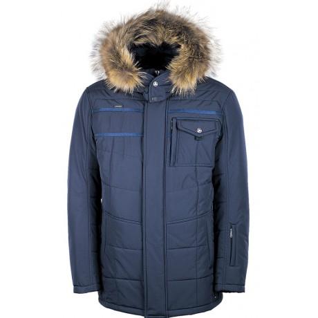 Куртка зимняя мужская с климат-контролем AutoJack 0537 синяя