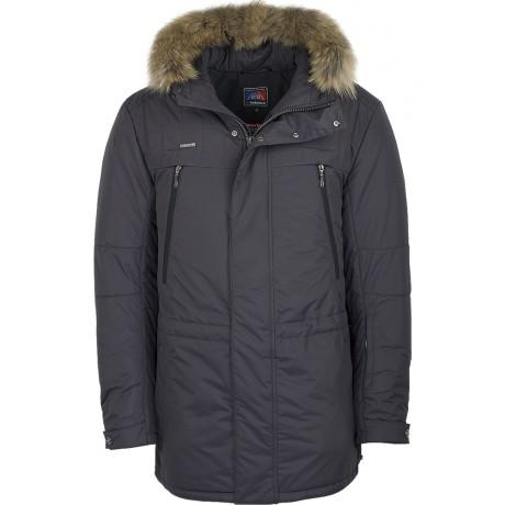 Куртка зимняя мужская с климат-контролем AutoJack 0547 серый
