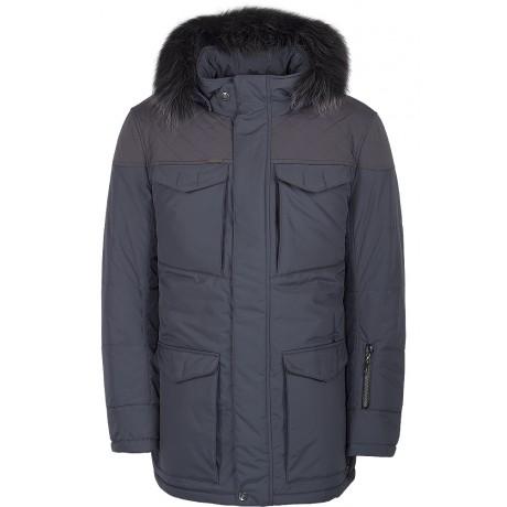 Куртка зимняя мужская с климат-контролем AutoJack 0572 серый
