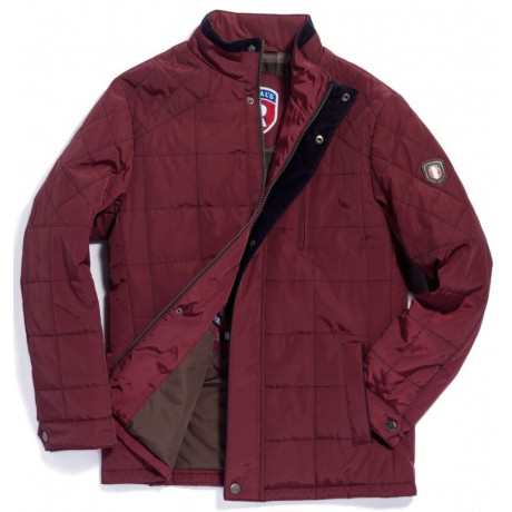 Куртка демисезонная мужская Royal Spirit, модель Бордо стеганная бордовая