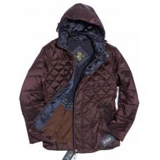 Куртка демисезонная мужская Royal Spirit, модель Галоген стеганная бордовая