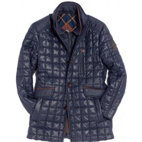 Куртка демисезонная мужская Royal Spirit, модель Медея, стеганная синяя