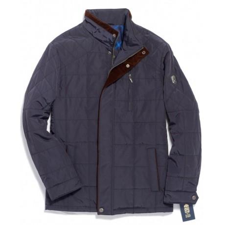 Куртка демисезонная мужская Royal Spirit, модель Никель стеганная синяя
