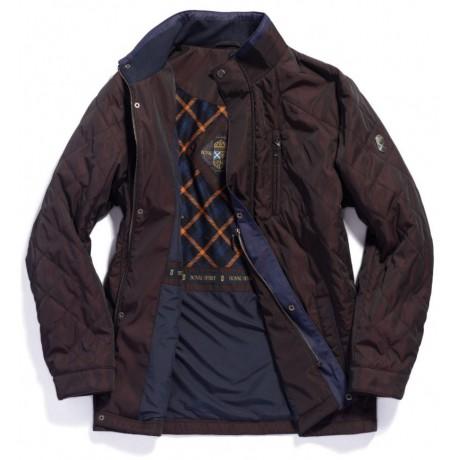 Куртка демисезонная мужская Royal Spirit, модель Тиволи стеганная коричневая
