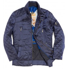 Куртка демисезонная мужская Royal Spirit, модель Визирь, стеганная синяя