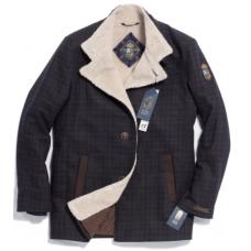 Пальто мужское Royal Spirit, модель Позитив сине-коричневое