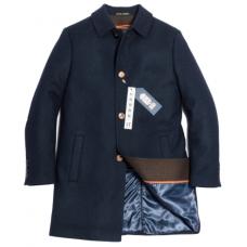 Пальто мужское Royal Spirit, модель Скотт синее с подстежкой