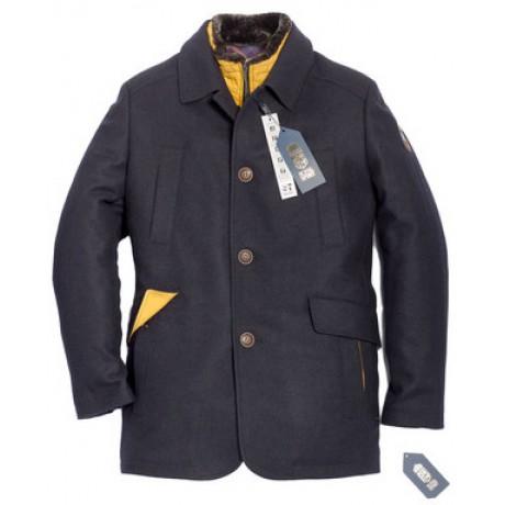 Пальто мужское Royal Spirit, модель Дуэль синее
