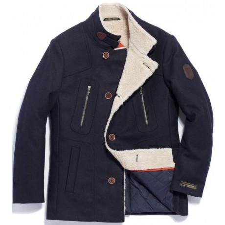 Пальто мужское Royal Spirit, модель Агент синее