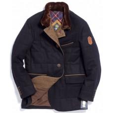 Пальто мужское Royal Spirit, модель Материк синее