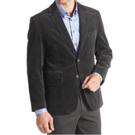 Пиджак вельветовый черный W.Wegener модель Nick 6-490/09