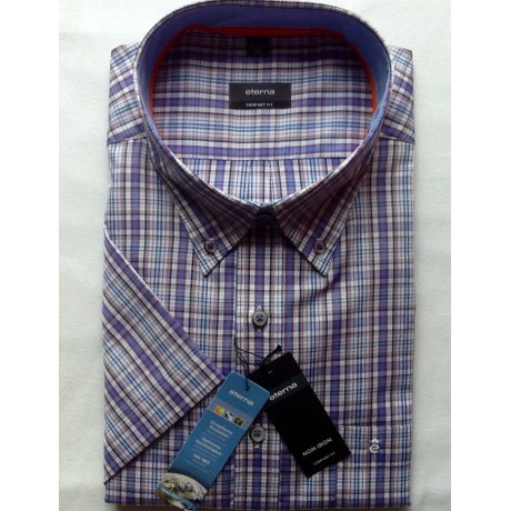 Рубашка мужская Eterna короткий рукав 2113/95