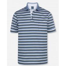 Поло Olymp Modern Fit, артикул 54047214, цвет голубой в полоску