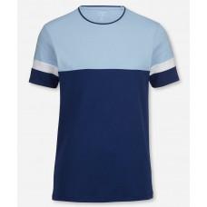 Футболка Olymp Level Five (body fit), артикул 56855218, приталенная, цвет синий с голубым