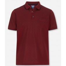 Поло Olymp Modern Fit, артикул 54055239, цвет бордовый с принтом
