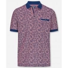Поло Olymp Modern Fit, артикул 54065239, цвет розовый с принтом