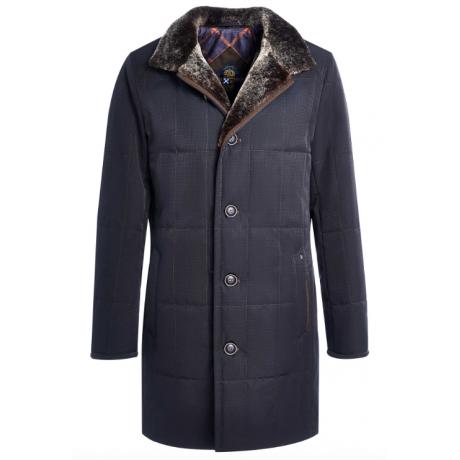 Мужская зимняя куртка-пальто Royal Spirit, модель Агат, классическая