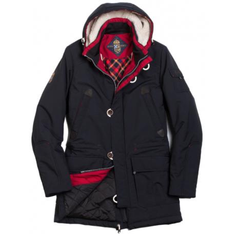 Куртка зимняя мужская Royal Spirit, модель Чарли, парка с капюшоном роял спирит